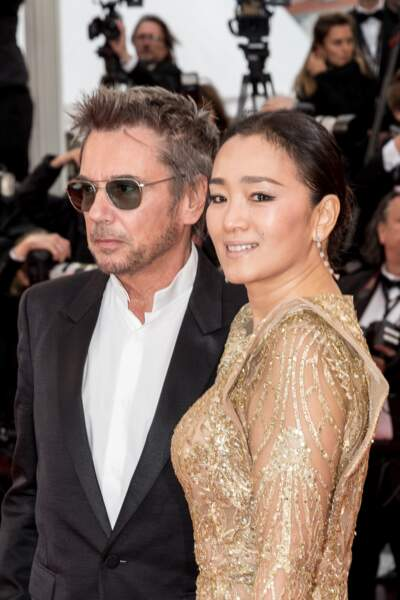 Jean-Michel Jarre et sa compagne l'actrice chinoise Gong Li, au Festival de Cannes, le 17 mai 2019.