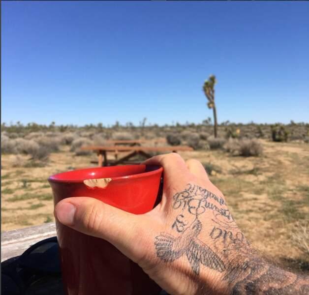 David Beckham, petit déjeuner dans le désert californien