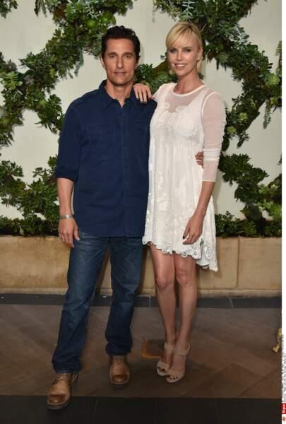 Matthew McConaughey et Charlize Theron en août 2016