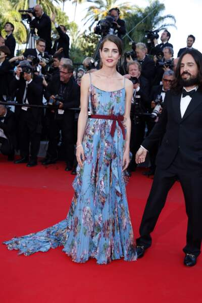 Charlotte Casiraghi et Alessandro Michele à Cannes en 2015