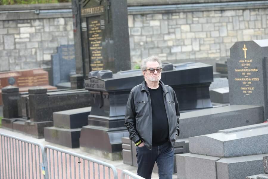 Eddy Mitchell lors des obsèques de Véronique Colucci
