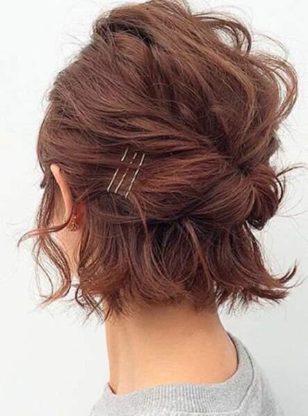 Une demi queue sur cheveux courts