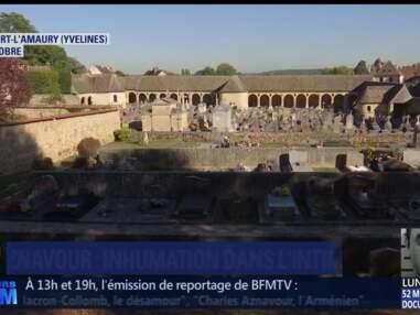 Obsèques de Charles Aznavour le cimetière de Monfort L'Amaury