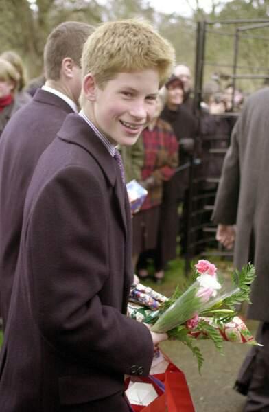 Le prince Harry, tout sourire à l'approche de Noël