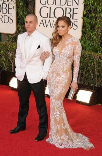 Casper Smart et Jennifer Lopez, Golden Globe Awards 2013