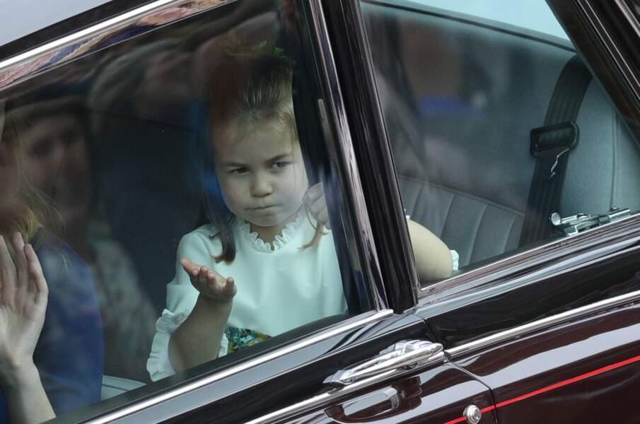 La princesse Charlotte de Cambridge - Les invités arrivent à la chapelle St. George pour le mariage de la princesse