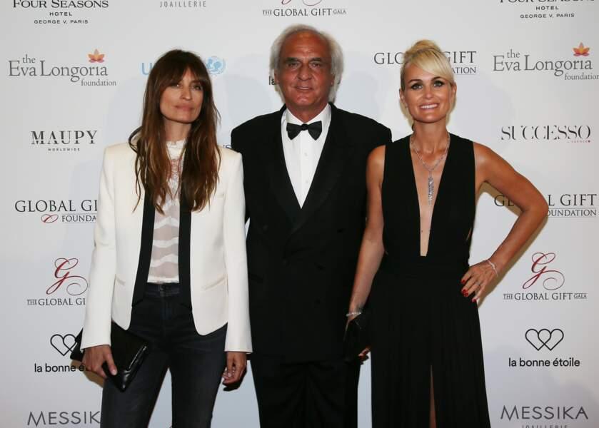 Le mannequin Caroline de Maigret et Laeticia, en compagnie de Jean-Marie Dru, président de UNICEF France.