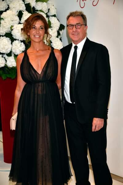 François Cluzet et sa femme Narjiss à Monaco, le 28 juillet 2017