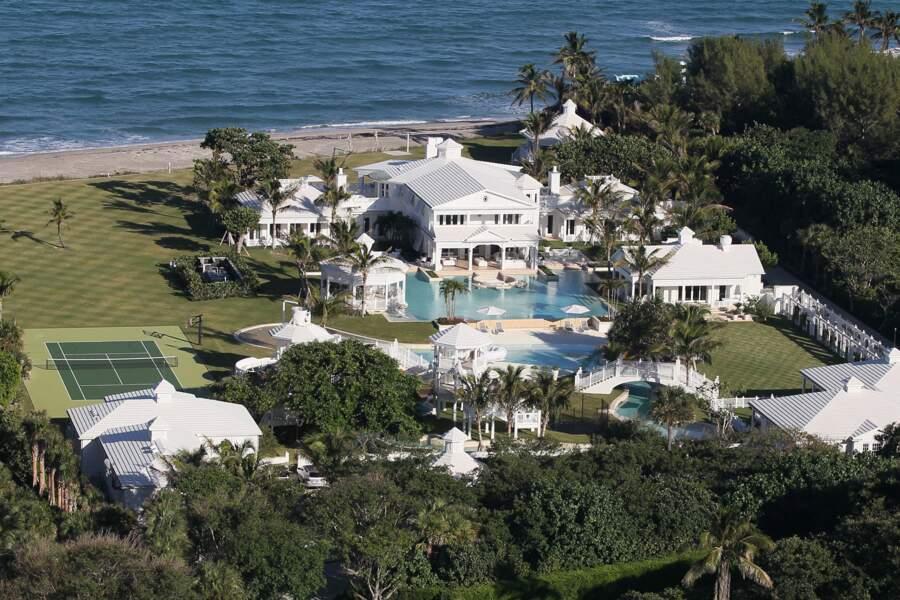 La villa de Céline Dion vue du ciel