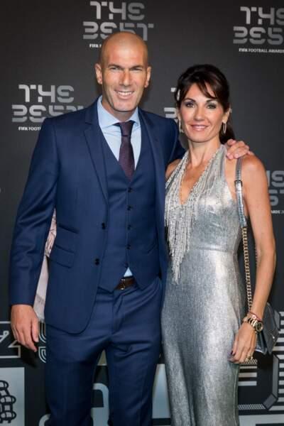 Véronique Zidane, la femme de Zinedine, a éclipsé son mari lors de la soirée The Best le 24 septembre 2018