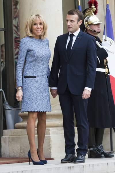 Emmanuel Macron et Brigitte Macron : un couple élégant et toujours bien assorti
