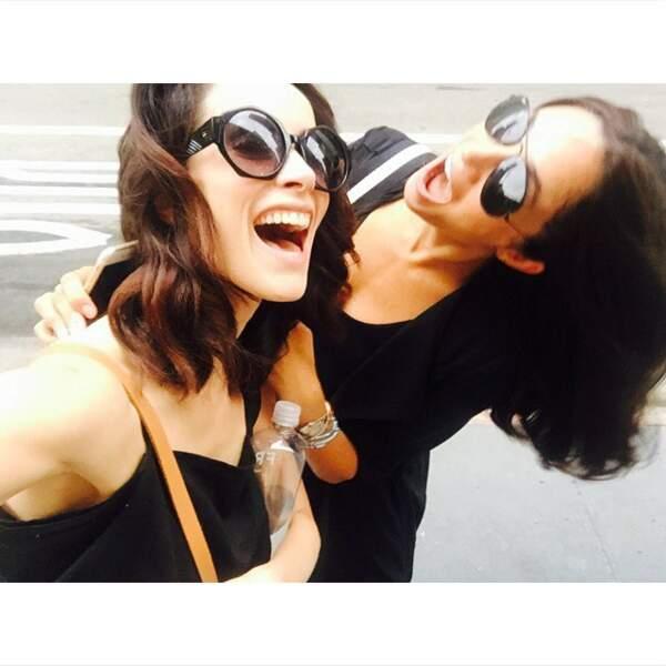 La comédienne Abigail Spencer et Meghan Markle, à New York en 2016