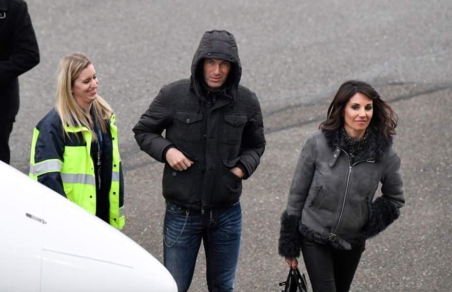 Zinédine Zidane et sa femme Véronique le 9 janvier 2016