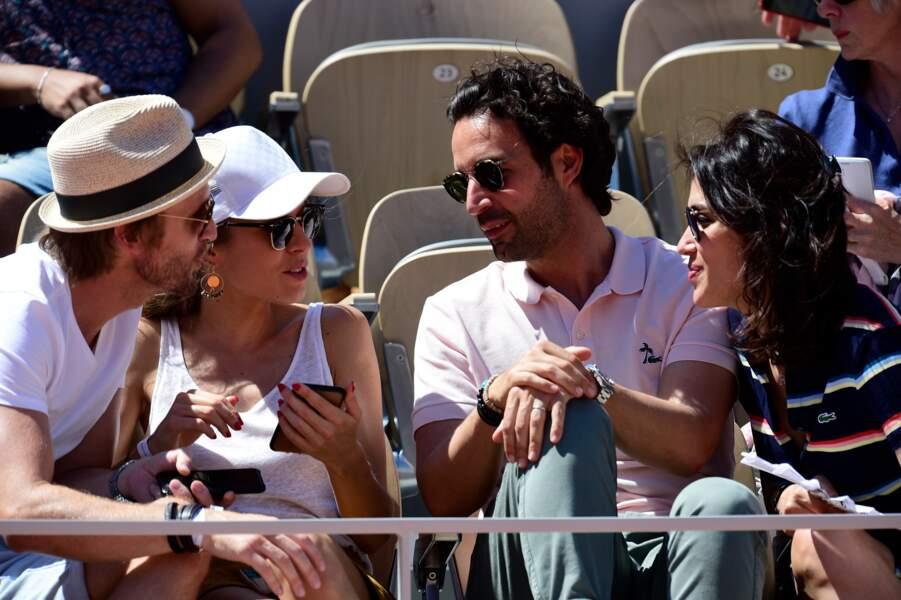 Dans les tribunes, Philippe Lacheau et Elodie Fontan ont croisé Laurie Cholewa et son mari Greg Levy