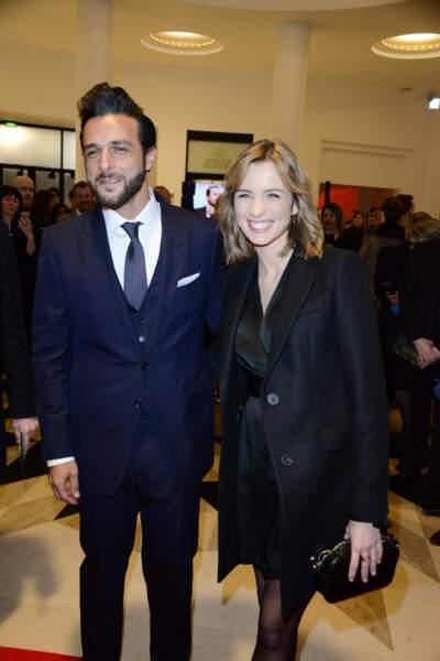 Isabelle Ithurburu et Maxime Nucci au César le 2 mars.