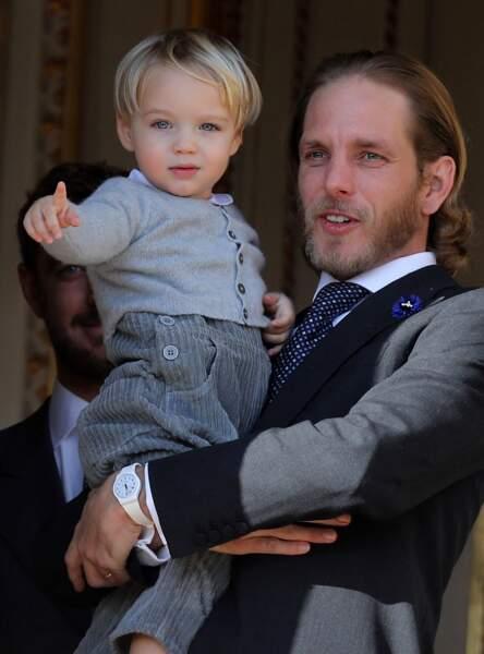 Andrea Casiraghi fier de son neveu Stefano, le fils de son frère Pierre Casiraghi