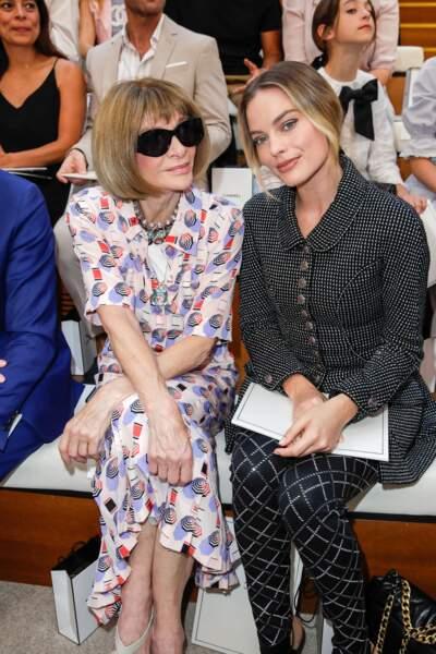 Anna Wintour, la papesse de la mode et Margot Robbie, l'égérie Chanel