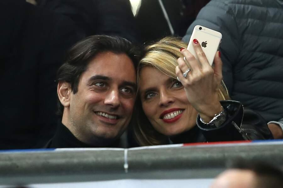 Sylvie Tellier et Laurent au Stade de France en mars 2016