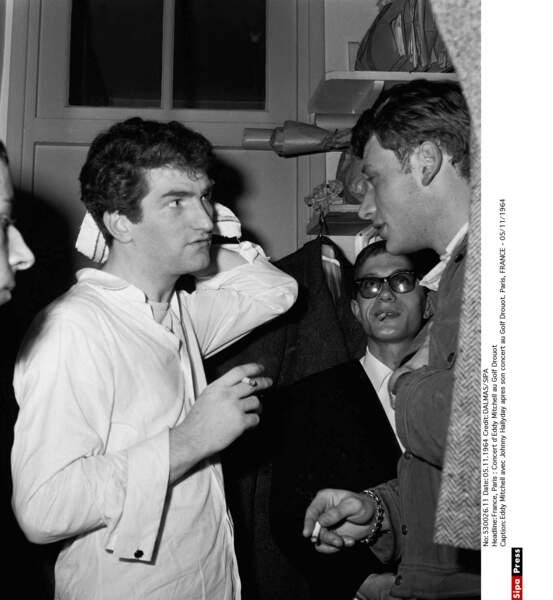 Eddy Mitchell, Johnny Hallyday et Jacques Dutronc en 1964