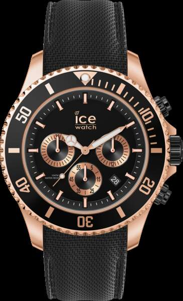 Montre ICE steel en acier et silicone, 169 €, Ice Watch.