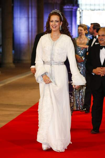 La princesse Lalla Salma à un dîner de gala à Amsterdam le 29 avril 2013