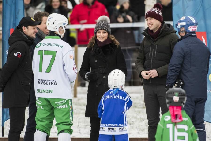 Kate Middleton en visite à la salle de sports Vasaparken à Stockholm.