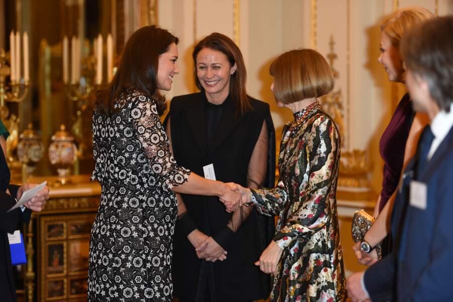 Kate Middleton, Anna Wintour et Caroline Bush