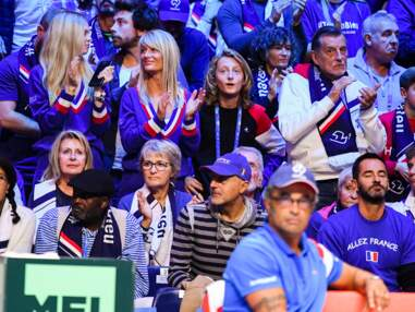 Joalukas Noah, premier supporter de son papa Yannick Noah pour la victoire de la France en Coupe Davis