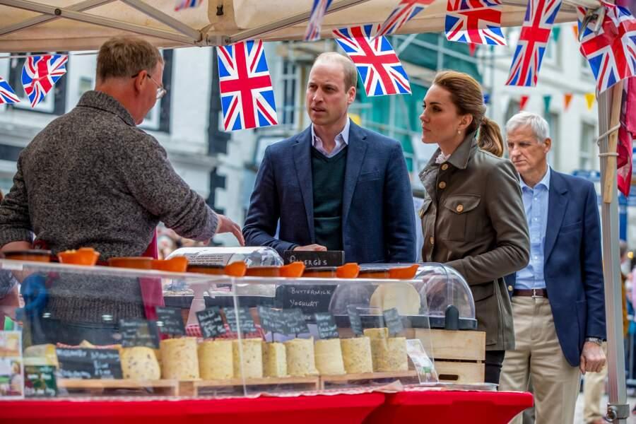 Le couple royal a rencontré des locaux et des bénévoles de la Fondation Cumbria de cette région rurale.