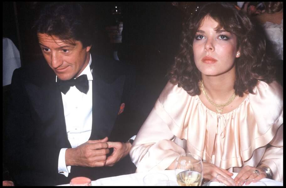 Caroline de Monaco et son premier mari Philippe Junot, chez Maxim's, en janvier 1978