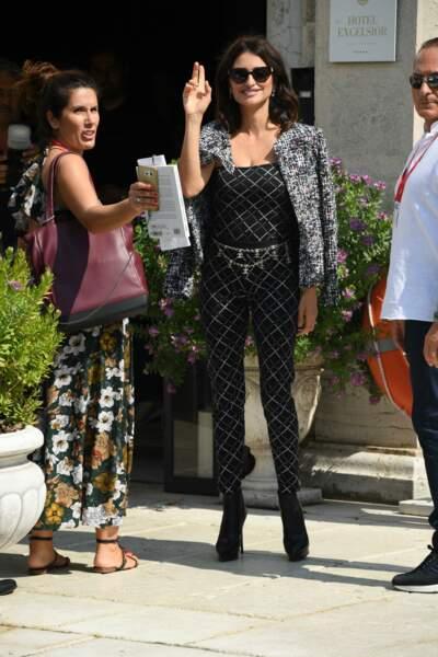 Penelope Cruz en total look Chanel Resort 2020 le 1er septembre 2019