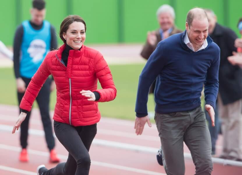 """William et Kate participent au """"2017 Money London Marathon Training Day"""" à Londres le 5 février 2017"""