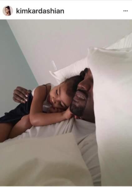 North et son papa Kanye West