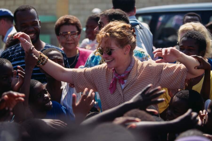 Ambassadrice de l'UNICEF, elle part en mission en Haïti en 1995