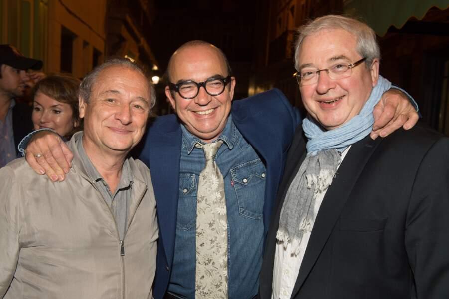 Patrick Braoudé, Karl Zero et Jean-Paul Huchon