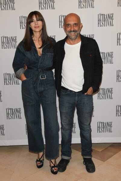 Monica Bellucci et Gaspar Noé, complices au photocall de L'Etrange Festival.