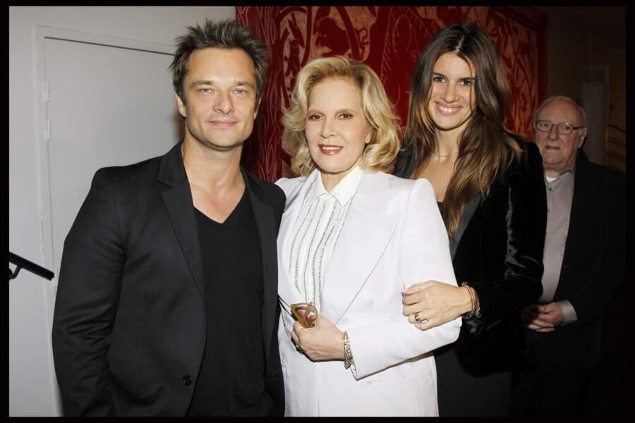 David Hallyday, Sylvie Vartan et Alexandra Pastor lors du concert de Sylvie à la Salle Pleyel en 2011