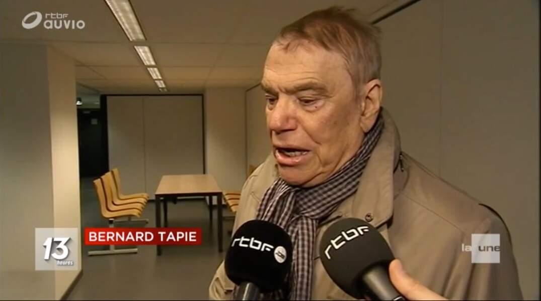 Bernard Tapie parle à la RTBF le 25 octobre 2017