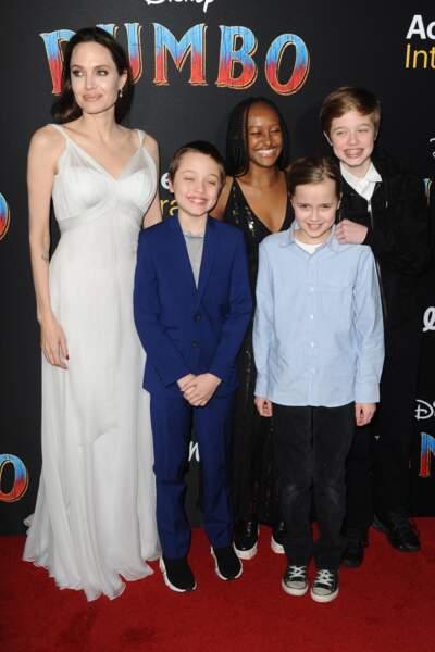 Zahara, l'aînée des filles d'Angelina Jolie a fait sensation dans une robe noire