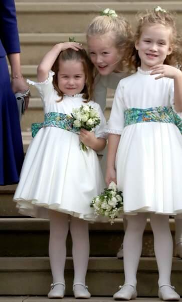 La princesse Charlotte de Cambridge - Sorties après la cérémonie de mariage de la princesse Eugenie d'York et Jack