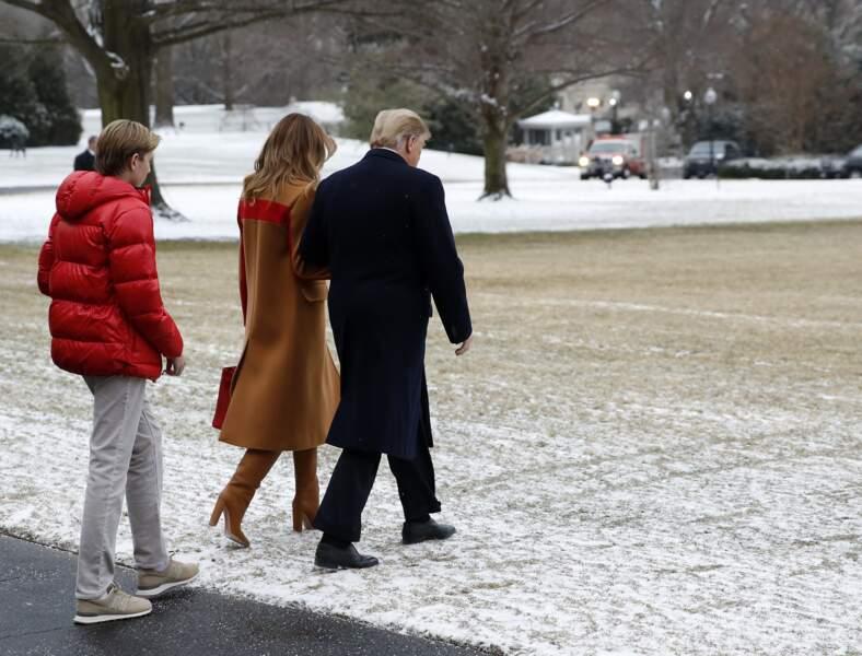 Alors qu'il fêtera ses 13 ans le 20 mars, Barron Trump mesurerait déjà 1m90