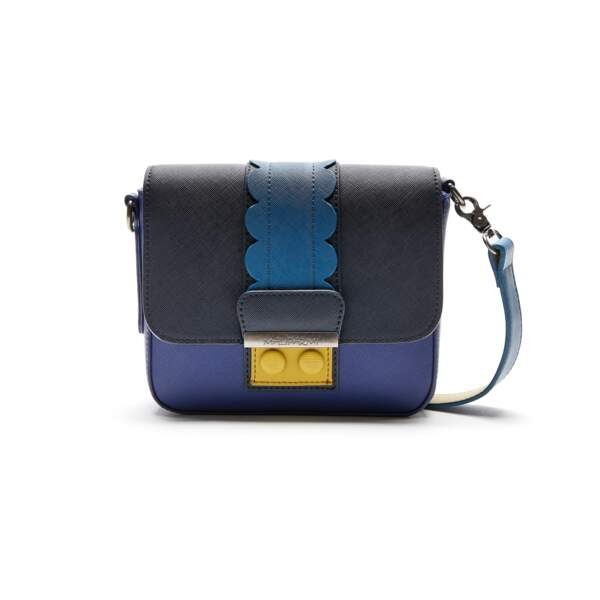 "Colorblock, mini sac bandoulière ""Scallops"", 128 € (Maliparmi)."