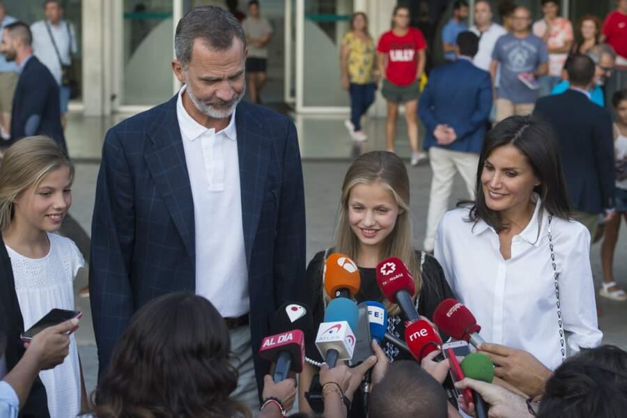 Le roi Felipe et sa famille donnent des nouvelles de Juan Carlos après leur visite, le 27 août.