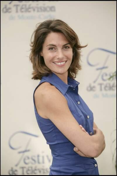 Alessandra Sublet et son carré mi-long dégradé, au festival de la television de Monte Carlo, en 2008