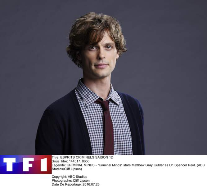 "Matthew Gray Gubler incarne le Dr. Spencer Reid, profileur du FBI dans ""Esprits Criminels"""