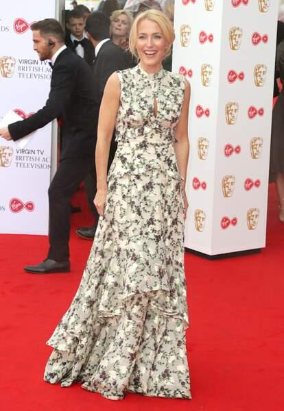 Gillian Anderson lors des BAFTA Televison Awards à Londres le 14 mai 2017