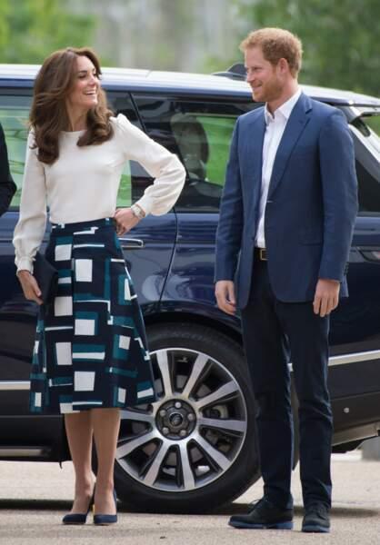 Gentils défis, Prince Harry et la duchesse de Cambridge sont comme frère et soeur