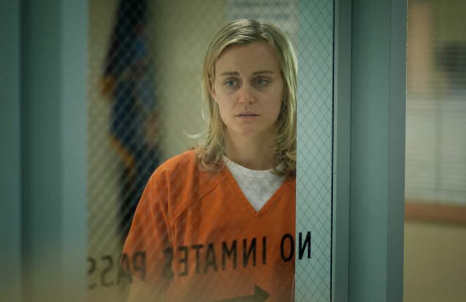 """Taylor Schilling dans le rôle de Piper Chapman, personnage principal de la série """"Orange is the new black"""""""