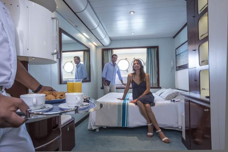 Le Club Med 2 : des cabines confortables, au design moderne et épuré