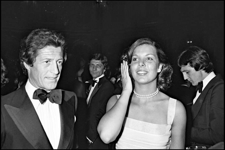 Caroline de Monaco et son premier mari Philippe Junot, à Monaco, en mai 1977